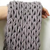 Аксессуары ручной работы. Ярмарка Мастеров - ручная работа Серый мужской снуд шарф труба крупной вязки. Handmade.