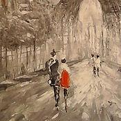 Картины и панно handmade. Livemaster - original item Abstraction oil painting Paris. Handmade.