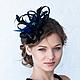 """Шляпы ручной работы. Ярмарка Мастеров - ручная работа. Купить Шляпка """"Seductiveness"""" (""""Соблазнительность""""). Handmade. Однотонный, шляпка вечерняя"""