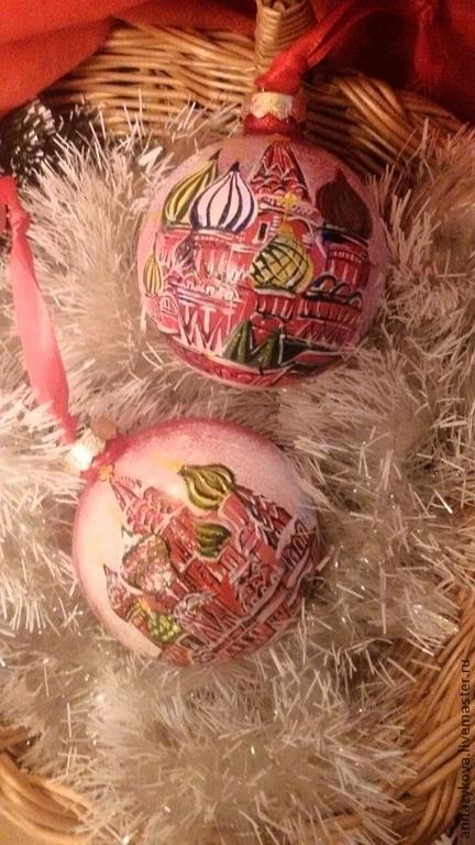 Новый год 2017 ручной работы. Ярмарка Мастеров - ручная работа. Купить Собор Василия Блаженного. Handmade. Ярко-красный