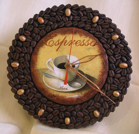 Clocks for Home handmade. Livemaster - handmade. Buy Watch 'coffee Aroma'.Watch interior, Natalia Nosova, gift, espresso