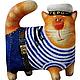 Игрушки животные, ручной работы. Ярмарка Мастеров - ручная работа. Купить Кот Герой, скульптура, ручная роспись. Handmade. Кот
