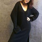 Одежда ручной работы. Ярмарка Мастеров - ручная работа Черное платье-туника. Handmade.