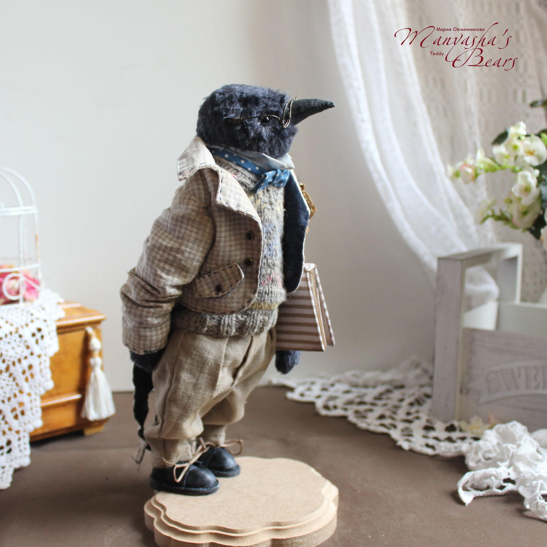 Поэт. Грачи прилетели, весна 2021, тедди птица, 25 см, Мишки Тедди, Санкт-Петербург,  Фото №1