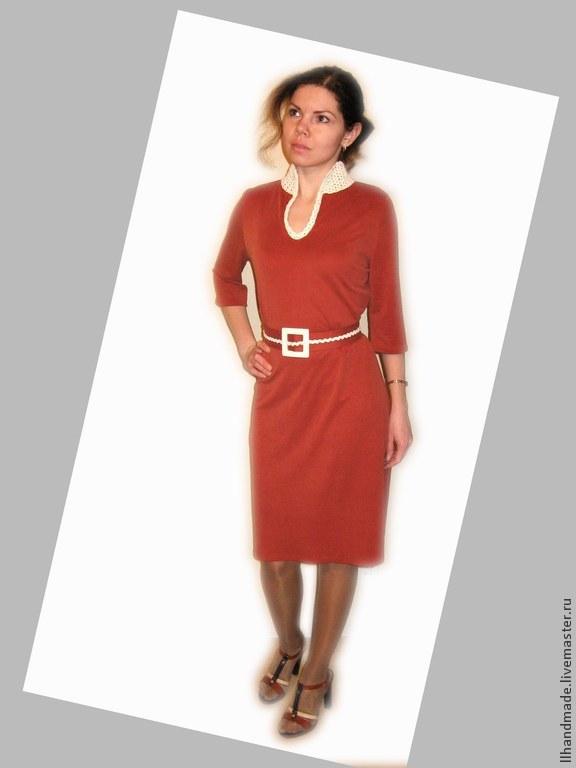 Кирпичный цвет платья фото