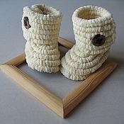 Работы для детей, ручной работы. Ярмарка Мастеров - ручная работа Пинетки сапожки. Handmade.