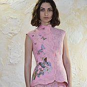 """Одежда ручной работы. Ярмарка Мастеров - ручная работа Жилет""""Нежно-розовые сны"""". Handmade."""