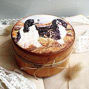 Для дома и интерьера ручной работы. Ярмарка Мастеров - ручная работа На охоте - шкатулка для мелочей. Handmade.