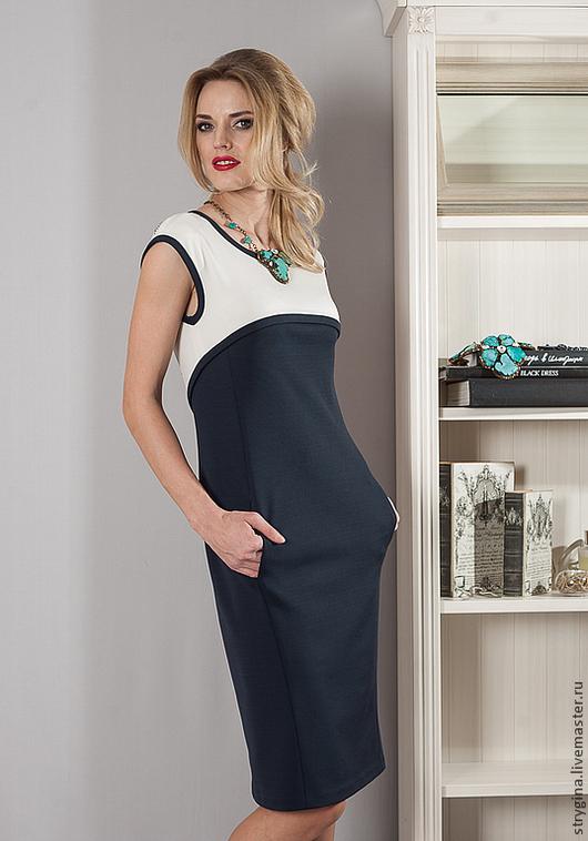 Платья ручной работы. Ярмарка Мастеров - ручная работа. Купить Платье Marina Libelulla. Handmade. Тёмно-синий, стрыгина