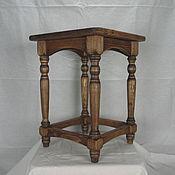 Для дома и интерьера handmade. Livemaster - original item Stool on turned legs. Handmade.