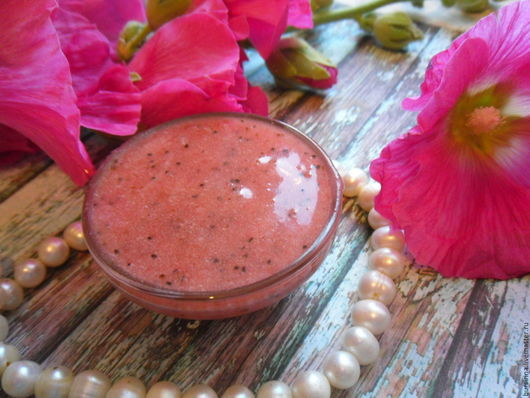 Мыло ручной работы. Ярмарка Мастеров - ручная работа. Купить ЯГОДКА  мягкое мыло-бельди, марокканское мыло. Handmade. Розовый
