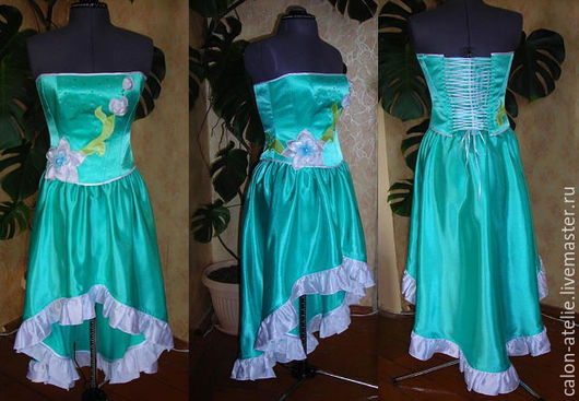Платья ручной работы. Ярмарка Мастеров - ручная работа. Купить вечернее платье. Handmade. Комбинированный, цветочный, корсетное платье, стразы
