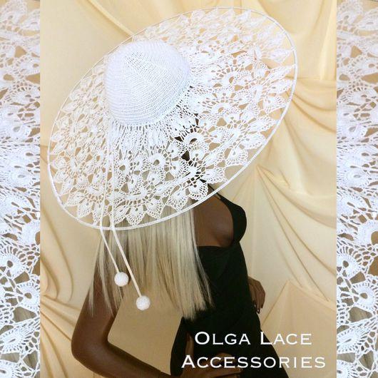 Шляпы ручной работы. Ярмарка Мастеров - ручная работа. Купить Кружевная шляпа от Olga Lace. Handmade. Вязаная шляпа