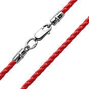 Украшения handmade. Livemaster - original item Silk Lace, color red, thickness 2,5 mm. Handmade.
