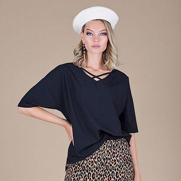 Одежда ручной работы. Ярмарка Мастеров - ручная работа Блуза-туника черная  47888. Handmade.