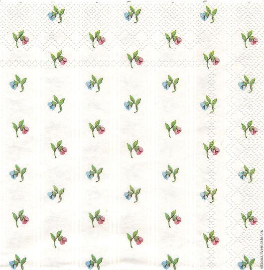 Арт. И-097 Мелкие цветочки на перламутровом фоне.