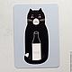 """Открытки на все случаи жизни ручной работы. Заказать открытка """"молоко"""". Ванины Следы. Ярмарка Мастеров. Черная кошка, открытка"""