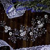 Свадебный салон handmade. Livemaster - original item Twig for hair Myrrh silver. Handmade.