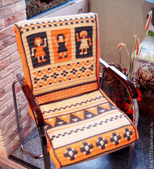 """Кухня ручной работы. Ярмарка Мастеров - ручная работа. Купить Чехлы на стулья""""Девчули"""". Handmade. Декор кухни, интерьер кухни, для кухни"""