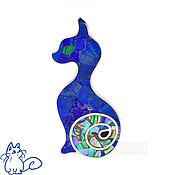 Украшения handmade. Livemaster - original item Brooch Cat. Brooch with lapis lazuli and mother of pearl.. Handmade.