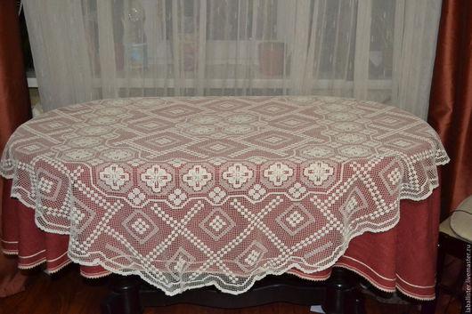 Текстиль, ковры ручной работы. Ярмарка Мастеров - ручная работа. Купить скатерть выполнена в технике плетение. Handmade. Скатерть
