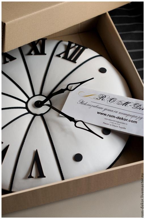 "Часы для дома ручной работы. Ярмарка Мастеров - ручная работа. Купить Часы ""The Midday In Salzburg"". 50 см,натуральная кожа.. Handmade."
