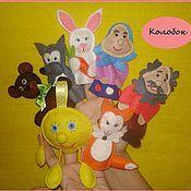 """Куклы и игрушки ручной работы. Ярмарка Мастеров - ручная работа Пальчиковый кукольный театр """"Колобок"""". Handmade."""