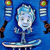 """Работы для детей, ручной работы. Ярмарка Мастеров - ручная работа Детская футболка """"Нолик с помогатором"""". Handmade."""