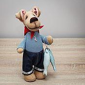 Куклы и игрушки ручной работы. Ярмарка Мастеров - ручная работа Песик-рыбак, 35 см. Handmade.