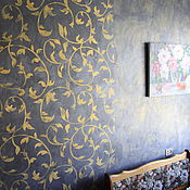 Дизайн и реклама handmade. Livemaster - original item The decoration kitchen wall in grey and gold shades (translucent). Handmade.