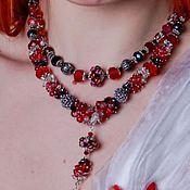 Украшения handmade. Livemaster - original item Necklace stylish decoration short beads red bright. Handmade.