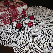 Для дома и интерьера handmade. Livemaster - original item Doily crochet round big fishnet Tenderness (No. 103). Handmade.