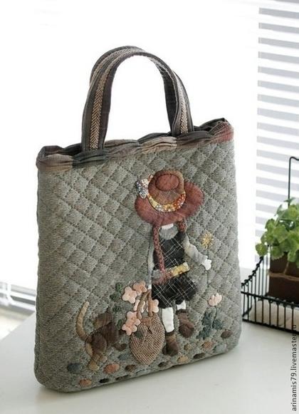 Японские сумки пэчворк с выкройкой. .  - Каталог сумочек, клатчей, портфелей, чемоданов и рюкзаков 2015 года.