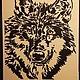 """Животные ручной работы. Ярмарка Мастеров - ручная работа. Купить Картина """"Волк"""". Handmade. Охота, подарок мужчине, волки"""