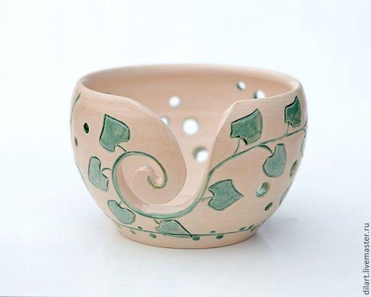 керамика ручной работы ваза интерьерная необычная ваза чаша для вязания спицы для вязания подарок маме подарок бабушке подарок жене подарок на любой случай интерьерная керамика оригинальный подарок ко