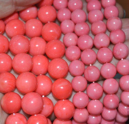 Для украшений ручной работы. Ярмарка Мастеров - ручная работа. Купить Коралл гладкий шарик (розовый). Handmade. Коралл