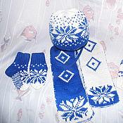 Работы для детей, ручной работы. Ярмарка Мастеров - ручная работа Шапочка, шарф, варежки и носочки в скандинавском стиле. Handmade.