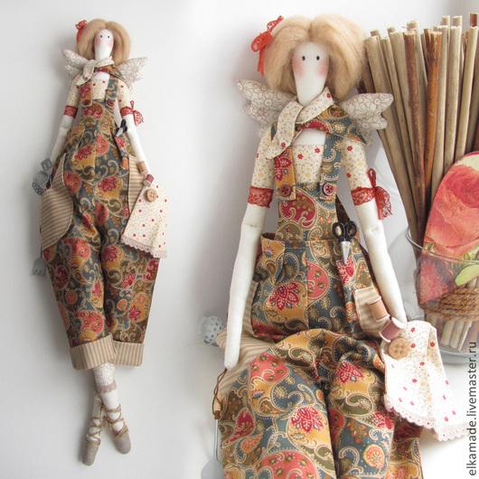Куклы Тильды ручной работы. Ярмарка Мастеров - ручная работа. Купить Интерьерная кукла Тильда Хозяюшка Капа. Handmade. Коричневый