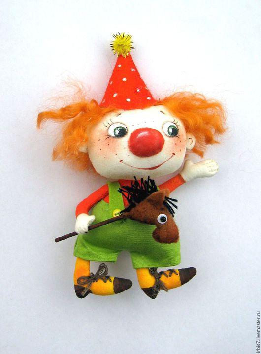 Коллекционные куклы ручной работы. Ярмарка Мастеров - ручная работа. Купить Клоун. Handmade. Комбинированный, клоун, клоуны, лошадка