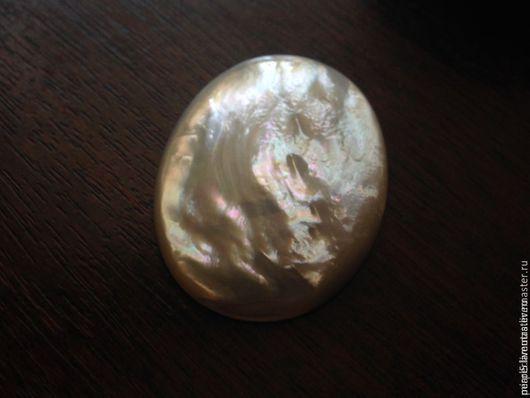 Для украшений ручной работы. Ярмарка Мастеров - ручная работа. Купить Кабошон 30 х 40 мм из перламутра жемчужницы (6). Handmade.