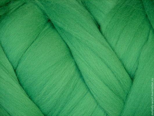 Валяние ручной работы. Ярмарка Мастеров - ручная работа. Купить Шерсть для валяния меринос 18 микрон цвет Газон (Meadow). Handmade.