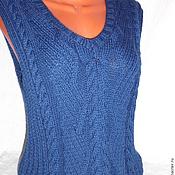 Vests handmade. Livemaster - original item Vest-style Denim.. Handmade.