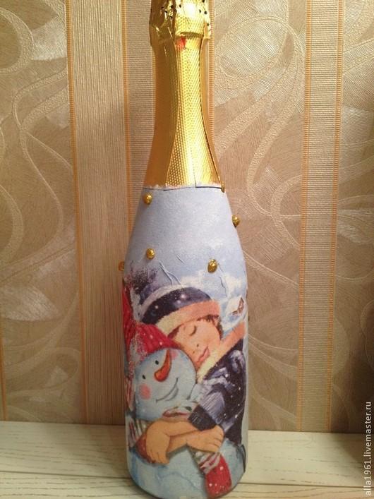 Готовая работа. Новогоднее шампанское Советское шампанское полусладкое.