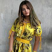 """Одежда ручной работы. Ярмарка Мастеров - ручная работа Платье """"Жёлтые цветы"""". Handmade."""