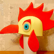 """Работы для детей, ручной работы. Ярмарка Мастеров - ручная работа шапка поролоновая карнавальная """"Петух"""". Handmade."""