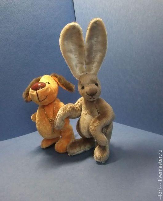 Мишки Тедди ручной работы. Ярмарка Мастеров - ручная работа. Купить Зайчонок. Handmade. Бежевый, бархат-плюш