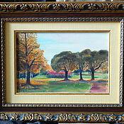 """Картины ручной работы. Ярмарка Мастеров - ручная работа Картина """"На прогулке в парке"""". Handmade."""