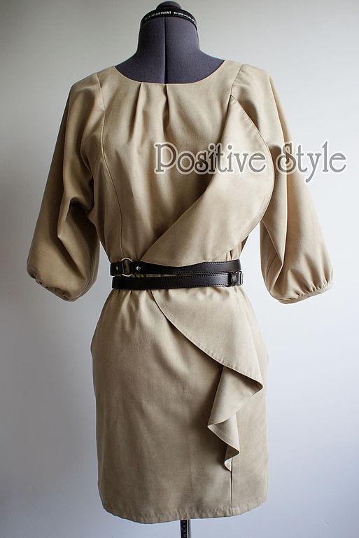 ТАЛИЮ МОЖНО ПОДЧЕРКНУТЬ ПОЯСОМ (платье продается без пояса)