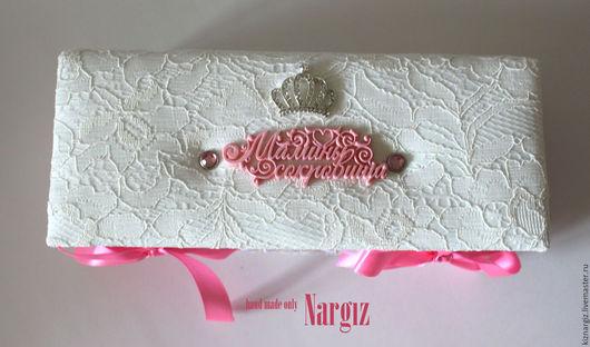 """Подарки для новорожденных, ручной работы. Ярмарка Мастеров - ручная работа. Купить Мамины сокровища для девочки серия """"Lux"""". Handmade. Белый"""