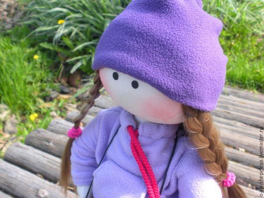 Человечки ручной работы. Ярмарка Мастеров - ручная работа. Купить Текстильная кукла Полина. Handmade. Фиолетовый, сиреневый цвет